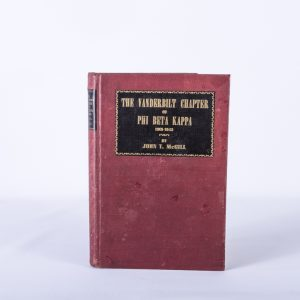 The Vanderbilt Chapter of Phi Beta Kappa 1901-1943 by McGill hard cover