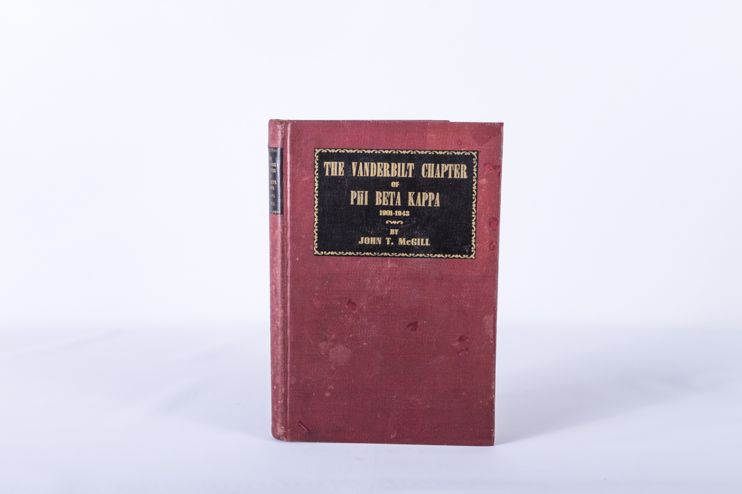 The Vanderbilt Chapter of Phi Beta Kappa 1901-1943 by McGill hard cover
