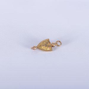 10K Solid Gold Alpha Chi Honor Society Award Lamp Pin - 1922 Vintage Fraternal 2