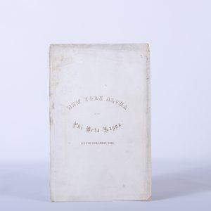 1850-CATALOGUE PHI BETA KAPPA UNION COLLEGE, SCHENECTADY