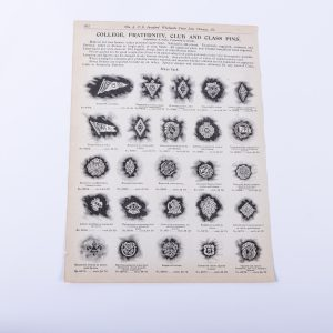 1904 ADVERT College Fraternity Club Class Pins Minerva Brenau Coburn