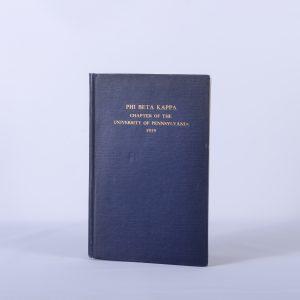 1919 PHI BETA KAPPA HAND BOOK OF THE UNIVERSITY OF PENNSYLVANIA Illustrated