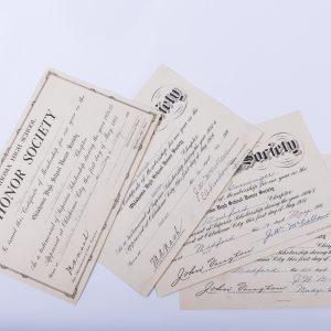 1925 Oklahoma Honor Society Membership invitation