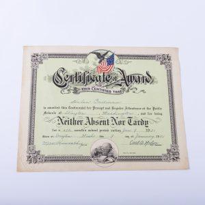 1931Perfect Attendance Award 2
