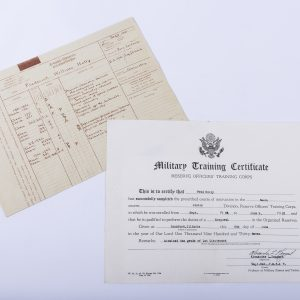1932 Military Training Certificate