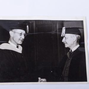 1937 Press Photo Dr. Frank Pierrepont Graves Inducts Ralph Hetzel Phi Beta Kappa