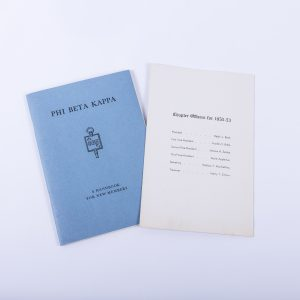 1953 UCLA Phi Beta Kappa Sorority Handbook Signed Letter Dean Paul A. Dodd 2