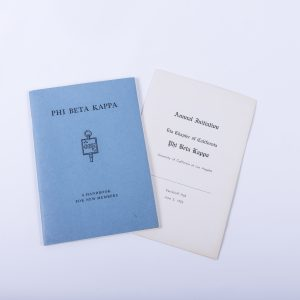 1953 UCLA Phi Beta Kappa Sorority Handbook Signed Letter Dean Paul A. Dodd