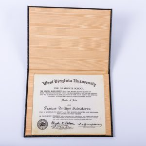 1961 West Virginia U Diploma