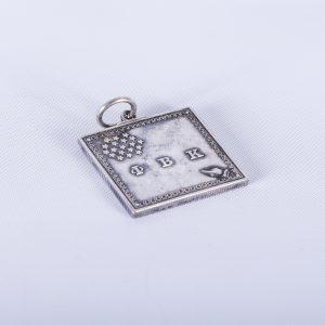 1979 Phi Beta Kappa Silver plated keychain 2
