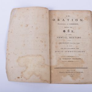 An Oration at Cambridge Phi Beta Kappa Timothy Bigelow 1797 Boston Law 2