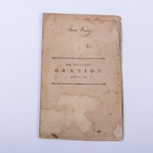 An Oration at Cambridge Phi Beta Kappa Timothy Bigelow 1797 Boston Law