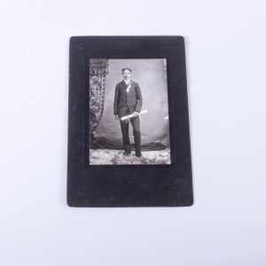 Antique Cabinet Card Photo Boy w Diploma Scroll Mich.