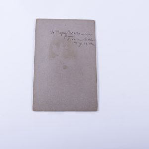 Antique Cabinet Card Photo of Young Woman with Diploma Signed on Back 2