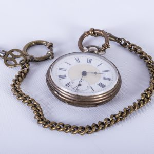 Antique pocketwatch with attached key 2