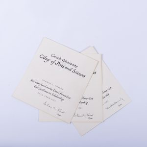 CORNELL UNIVERSITY DEAN LIST HONOR LIST DIPLOMA 1962 , 1963, 1964