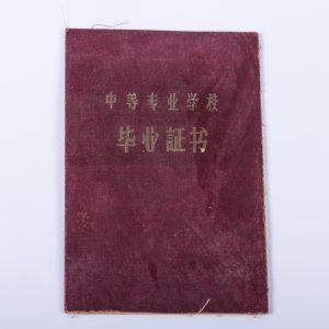 China Diploma 1954 Industrial College Guangxi Province, Cenxi County with Photo