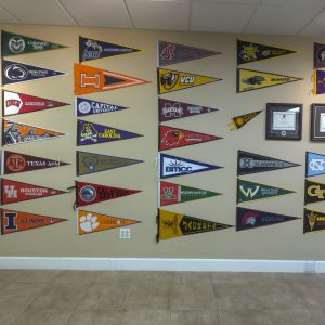 Honor Society Chapter Flag Wall
