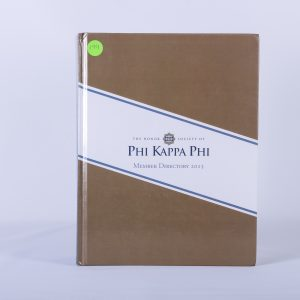 PHI KAPPA PHI Member Directory 2015 Honor Society University Alumni Students 1