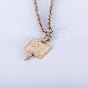 Phi Beta Kappa 10K Gold Harvard Key With GF Watch Chain, 1910