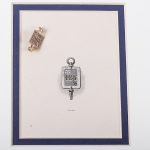 Phi Beta Kappa Key - 14k Gold Vintage Fraternity Pin 2