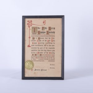 Phi Beta Kappa Society Certificate address