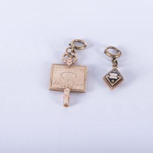 Rare Phi Beta Kappa & Delta Kappa Epsilon Gold Key & Charm
