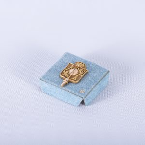 Sigma Delta Pi National Collegiate Hispanic Honor Society Pin wOriginal Box