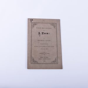 Yale College Poem Poetry New Haven 1869 Phi Beta Kappa George Dole Pamphlet