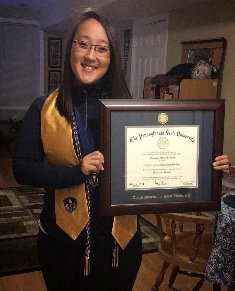 Honor Society Graduation at Home with Regalia